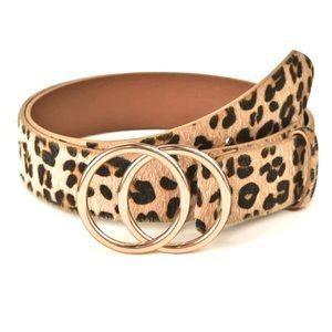 🍋2/$30 New Double O Ring Cheetah Belt